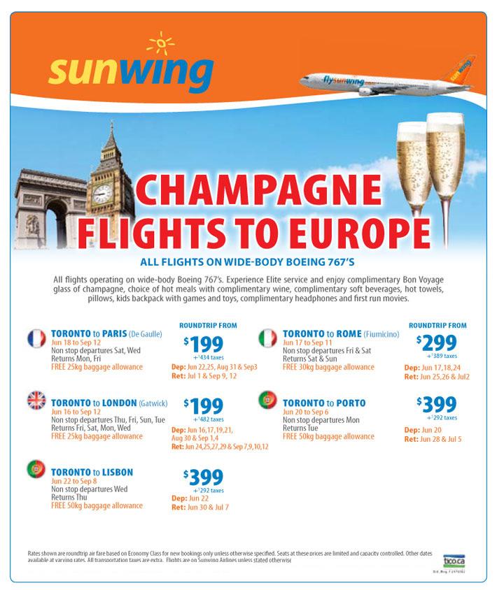 Peak Summer Europe Flights