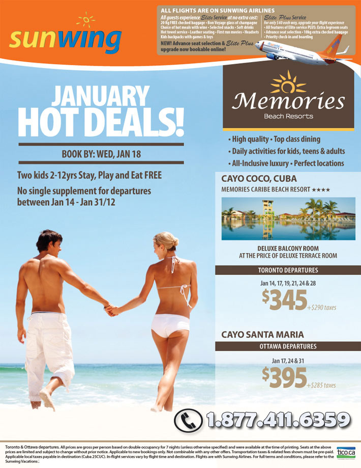 Sunwing Memories Caribe Beach Resorts