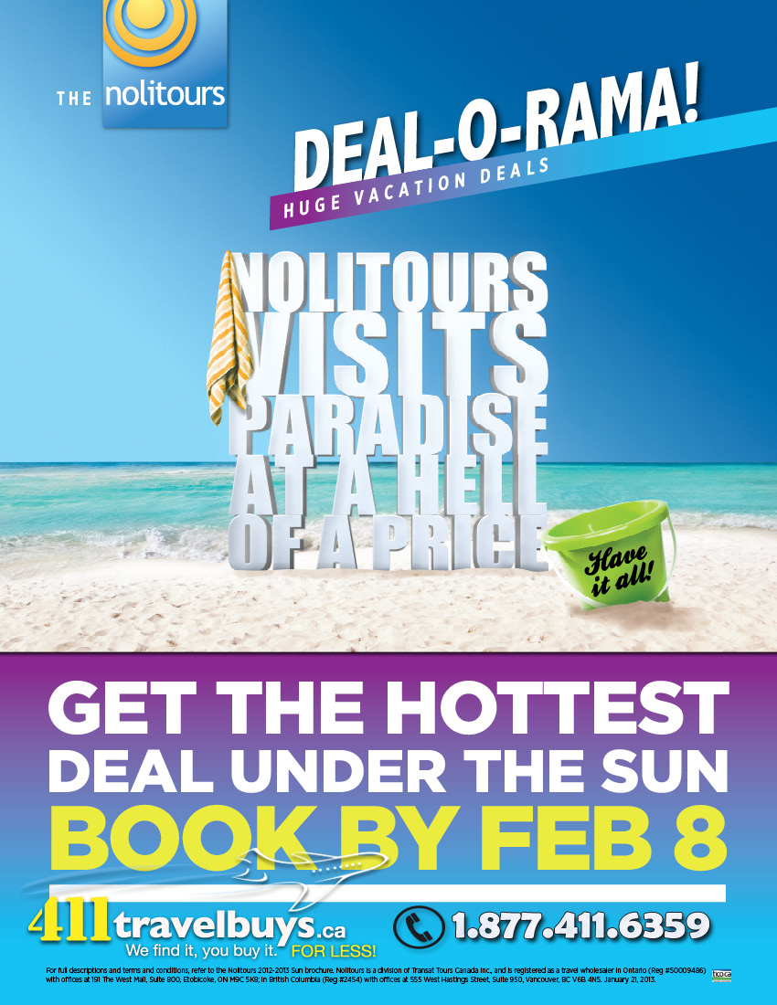 nolitours-deal-o-rama vacation deals