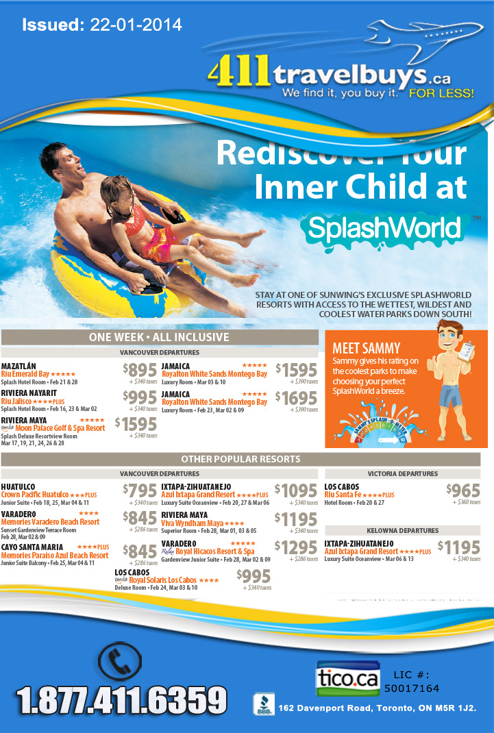 Sunwing Vacations Splash World Resorts Vacation