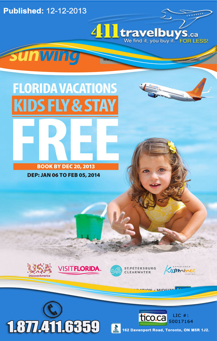 Sunwing Vacations Kids Fly Stay Play Amp Eat Free