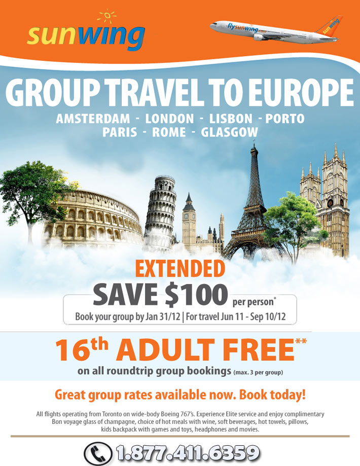 Sunwing Europe Group Travel